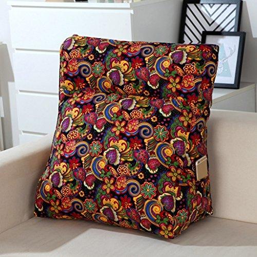 MMM- Canapé triangulaire d'oreiller de coussin de lit multifonctionnel de toile de coton grand dossier lavable ( Couleur : #2 , taille : 48*20*50cm )