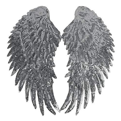 OverDose Damen Federflügel schwarz Stoffstreifen Ideal für Fasching, Karneval, Basteln, Bekleidung, Kostüme Luxuriöse Schwarze Feder-capelet mit Hohem Kragen