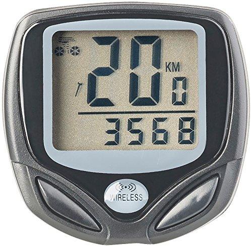 PEARL sports Fahrradtacho: Digitaler 15in1-Fahrrad-Computer mit kabellosem Funk-Radsensor, LCD (Tachometer)