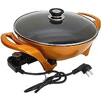 FUDIV À usages multiples Pot électrique Wok Lingot Pot d'or Pot antiadhésif Marmite électrique Cuisinière électrique Hot…