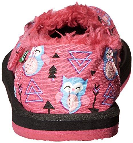 Sanuk Kids' Donna Lil Icon Chill Slipper Pink Owl Arrow