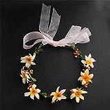 Weddwith Pelo Adornos Peinados accesorios hechos a mano coronas de laurel dama de honor diadema infantil guirnaldas accesorios