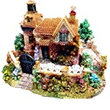 Akruti Cute Mini Resin House Miniature House Fairy Garden Micro Landscape Home Garden Decoration Resin Crafts Landscaping Decor DIY ACC