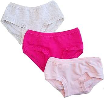 Set da 6 Slip Bambina in Cotone con Filato e Colori anallergici e Taglie dalla 2 Anni alla 12.