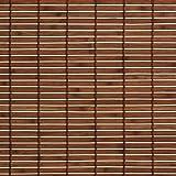 Liedeco Rollo Holz mit Seitenzug, Holzrollo für Fenster und Tür braun B 90 cm x L 220 cm