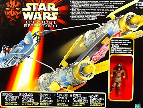 Preisvergleich Produktbild Anakin Skywalker Podracer + Anakin Fahrzeug und Figur Bundle Star Wars The Phantom Menace 1999 Hasbro