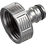 """GARDENA Premium kraanaansluiting 33,3 mm (G 1""""): Adapter voor waterkranen, hoogwaardig metaal, spatvrije waterstroom, vorstbe"""