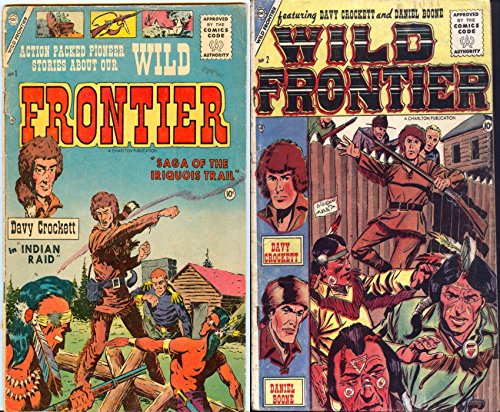 Wild Frontier. Issues 1 and 2. Features Saga of the Iriquois trail. Davy Crockett in Indian Raid. Daniel Boone. Golden Age Digital Comics Wild West Western (English Edition) (Digital Raid Western)