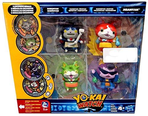 Yo-Kai Watch Robonyan, Jibanyan, Thornyan & Baddinyan Exclusive Action Figure 4-Pack [Includes 2 Exclusive Metals!]