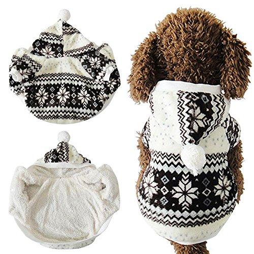 Darpy (TM) Hot Weich Winter Warm Pet Hund Kleidung Cozy Schneeflocke DOS Kostüm Kleidung Jacke Teddy Hoodie Coat Ropa Para (Für Hot Kostüm Uk Dog Hunde)
