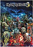 Wall Calendar 2020 [12 pages 20x30cm] Iron Maiden Eddie Album Covers Vintage Poster