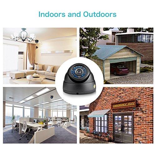 Funlux 700TVL HD Videoüberwachung 4 Pack Dome IP65 Outdoor/Indoor 20m Nachtsicht Überwachungskamera
