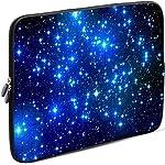 Sidorenko Laptop Tasche für 13 - 13.3 Zoll Macbook Pro / Macbook Air / Lenovo | Universal Notebooktasche Schutzhülle | Laptoptasche aus Neopren, PC Computer Ultrabook Hülle Sleeve Case Etui, Blau 42 Designs zur Auswahl