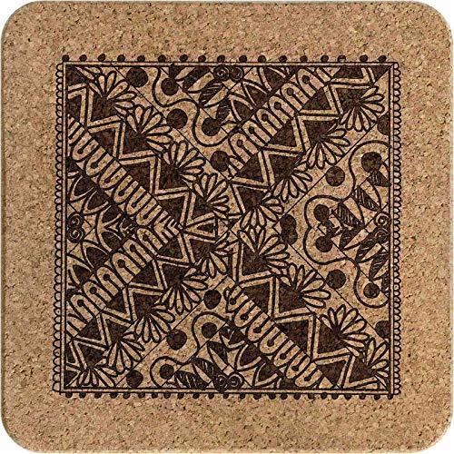 Azeeda 'Patrón Decorativo' Corcho Salvamanteles TR00014879