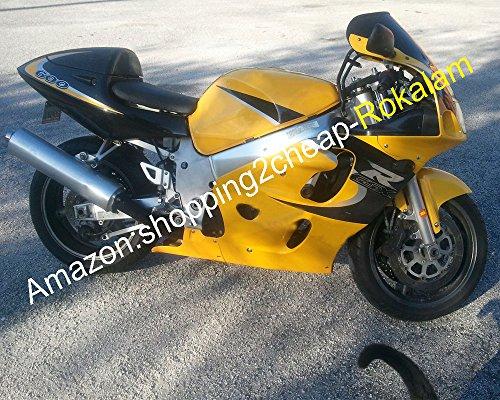 Hot Sales, Srad Gsx-r600/750 96-99 GSX-R 600 750 1996 1997 1998 1999 Jaune Noir pour moto Marché kit Carénage Ensemble