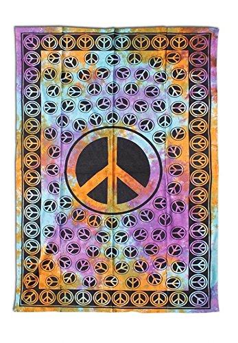 (Batik-Tuch 'Multi Peace' bunt - 1400x2200mm)