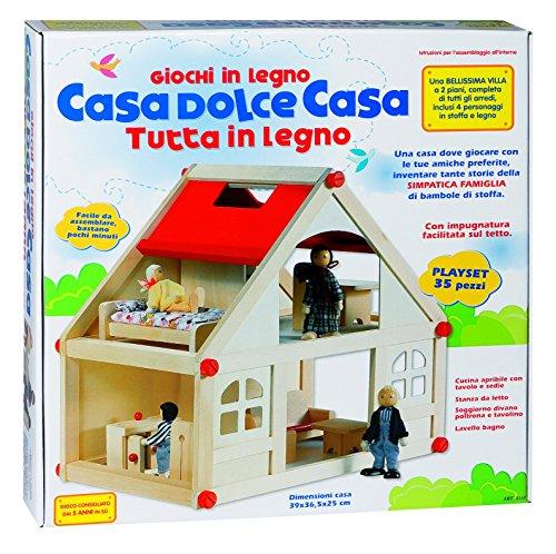 Rsta 8189 - casa dolce casa con bambole, legno
