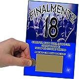 Gratta E Vinci Festa 18 Anni Lui Horus Creations - Kit 15 Biglietti Gratta E Vinci Da Personalizzare Blu - Rendi Divertente E