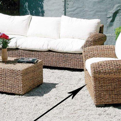 Homegarden poltrona in fibra natuarale da arredo giardino per esterno