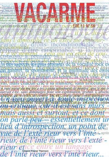 Vacarme, N 56, Et 2011 :