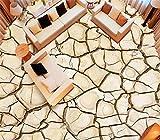 Chlwx 300cmX200cm (118.1inX78.195in) 3D-Bodenbeläge Tapeten Fototapete Trockenen Porzellan Bodenfliese 3D Stock Badezimmer Selbstklebende Pvc Wasserdicht Wallpaper