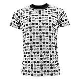 Luanvi Edición Limitada Camiseta técnica Cats, Hombre, Blanco/Negro, M (50-68cm)