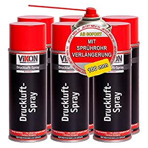 6 dosen vikon druckluft spray druckluftspray 400 ml mit. Black Bedroom Furniture Sets. Home Design Ideas