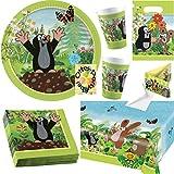 Der Kleine Maulwurf Krtek Little Mole Partyset 53tlg. für 8 Kinder Teller Becher Servietten Tischdecke Tüten Einladung