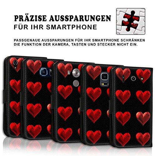 Wallet Book Style Flip Handy Tasche Case Schutz Hülle Schale Motiv Etui für Apple iPhone 6 Plus / 6S Plus - Variante UMV12 Design12 Design 6