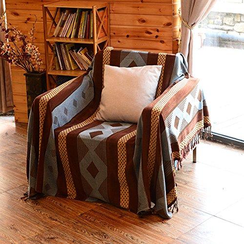 xysft Chenille Jacquard Quasten Überwurf Decke Sofa Stuhl Bezug Tischdecke Sofa dekorativer Überwurf-Decke