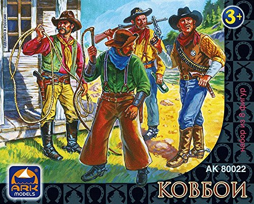 Ark Models AK80022 - Figure of Cowboys (8 units, 6,5 cm)