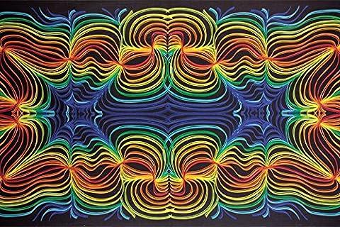 Sunshine Joy 3D Rainbow Ripple Tapestry Wall Hanging Trippy Table Cloth Magical Dorm Decor - Huge 60x90 Inches by Sunshine Joy
