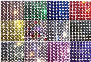 1400 pz perline luccicanti con strass, autoadesivi, trasparenti, brillanti, per decorare della CRYSTAL KING nero