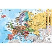 Empire - Poster Cartina dell'Europa multicolore