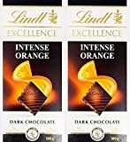 #3: Lindt Excellence Orange Intense Chocolate 100 Grams- (Pack of 2)