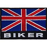Bandiera del Regno Unito Biker patch ricamato Iron/Sew on distintivo della giacca da moto