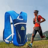 AONIJIE 5.5L Sac à Dos hydratation Sac à Dos extérieur Mochilas Trail Marathoner Running Race Gilet d'hydratation (Bleu)