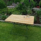 Gartentisch BAD TÖLZ 70x110 cm grün, Robinienholz, klappbar