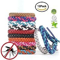 Preisvergleich für fuhao Moskito Armband Band Armband Wind-Mücken Schutz innen, Freien, ohne Deet 12pcs