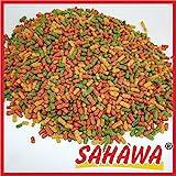 SAHAWA® 49134 Premium TeichSticks 3-fach Mix , Goldfischfutter , Koifutter, Teichfutter, Teichsticks (35 l 4,2 kg) …