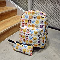 CAVEEN Emoji Backpack, 2Pcs Children