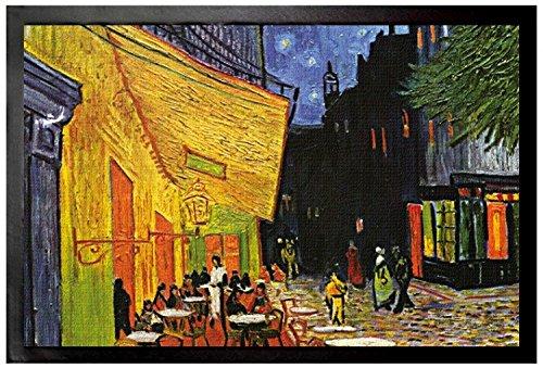 Preisvergleich Produktbild 1art1 96654 Vincent Van Gogh - Terrasse Des Cafés An Der Place Du Forum In Arles Am Abend, 1888 Fußmatte Türmatte 60 x 40 cm