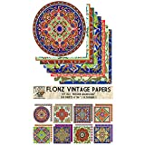 """Paper Pack (24sh 6""""x6"""") Persian Arabesque FLONZ Vintage Paper for Scrapbooking and Craft"""