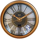 Ajanta 13 Inches Wall Clock For Home/Offces/Bedroom/Living Room/Kitchen (Silent Movement, Golden)