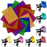 EMAGEREN 14 Pack Colored Overlays Transparency Color Film Plastic Sheets Gels Lighting Gel Filter Kit Correction…