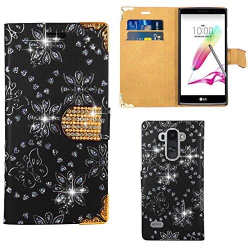 Preisvergleich Produktbild LG G4 Stylus Handy Tasche,  FoneExpert® Bling Luxus Diamant Hülle Wallet Case Cover Hüllen Etui Ledertasche Premium Lederhülle Schutzhülle für LG G4 Stylus