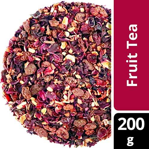 amapodo Früchtetee lose 200 g - Hibiskus, Zimt, Hagebutte, Nelken, Ingwer, Korinthen, Kinder lieben diesen Früchte Tee, Geschenk, Premium Qualität, 100% Natürlich ohne Zucker Zusatz