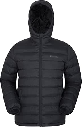 Mountain Warehouse Season Mens Padded Jacket - Water Resistant Jacket, Lightweight, Warm, Lab Tested to -30C, Microfibre Filler - for Winter Travelling, Walking