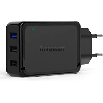 Tronsmart W3PTA 42W 3-Port USB Wall Charger with Quick Charge 3.0 & VoltIQ Indian Plug -Black