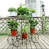 QFF Stile europeo a più livelli Raffreddamenti a fiore di ferro Creative Semplicità Moderna Vaso da fiori moderni Soggiorno Balcone Piano Stile Rasoio verde Raso ( Colore : Bronze B )